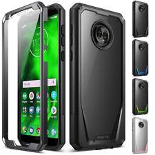 Shockproof Hybrid TPU Clear Back Hard Case Cover Case For Motorola Moto G6