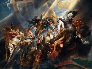 Peter Paul Rubens - The Fall of Phaeton, Museum Art Poster, Canvas Print