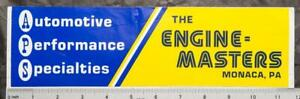 Vintage NHRA Racing Decal Sticker Automotive Performance Specialties g50