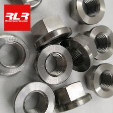 Kawasaki ZX6R ZX10R   titanium flange head nuts  M10x1.25mm sprocket nut kit