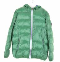 BEST COMPANY Boys Padded Jacket 11-12 Years Green Polyester