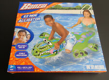 Inflatable Banzai Ez-Ride Alligator Ride On pool toy Float New in box