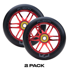 Fuzion Dose 110mm Pro Scooter Wheels Black & Red (2 Wheels Pair)