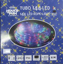 TUBE LUMINEUX 144 LED MULTICOLORE LUMIÈRES NOËL X EXTÉRIEUR 6 MT
