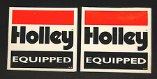 *Lot of 2* Holley Sticker Decal NHRA Nascar Racing Vintage Drag Race Hot Rat Rod