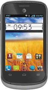 New ZTE Avail 2 Z992 GSM AT&T Go Phone Prepaid No Annual Contract GoPhone Black