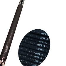 10pcs Premium Billiards Pool Cue Grip Anti Slip Chamois Tubing Covers Snooker BK