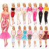 Barwa Random 5 sets of fashion Dress Suits  For Barbie Doll Best Princess Gifts