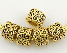 Wholesale 50 Lots Antique gold Plated Beads Fit European Bracelet J005