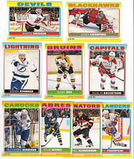 (9) 11/12 O-PEE-CHEE HOCKEY STICKERS  INSERT CARD LOT