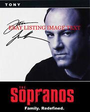 JAMES GANDOLFINI TONY SOPRANO SIGNED AUTOGRAPHED 8x10 RP PHOTO THE SOPRANOS