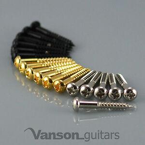 6 x NEW Domed Vanson Tremolo / Bridge Screws for Strat®* type guitars