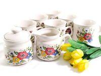 Vintage Stoneware Provincial by Home Concepts Floral Coffee / Tea Set 9 item lot