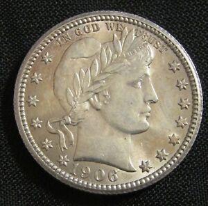1906 25C Barber Liberty Head Silver Quarter AN9