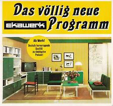 Wunderschöne historische Reklame Ekawerk Horn Bad Meinberg Möbel Design 1970er