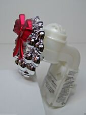 Bath & Body Works Wallflowers Pluggable Diffuser Silver Bells Wreath RED BOW NEW