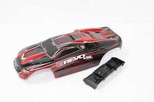 Traxxas E-Revo 1/16 Karosserie rot/schwarz inkl. Spoiler