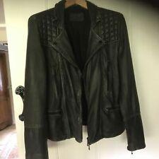 All Saints Leather Jacket Cargo XS