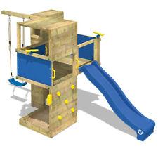WICKEY Spielturm Spielgerüst Smart Cube Design Holz Kletterturm Garten Schaukel