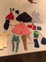 Vintage Barbie Mattel Clothes And Accessories Lot Of 41 Pieces
