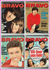 4x Bravo 1966 - defekte Hefte - mit 4x Beatles Starschnitt - Beatles Blitz Tour