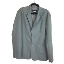 Pop Icon Men's Size Large Gray Cotton Jacket NWT Fashion Decal & Embroidery  405