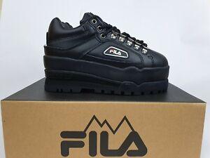 Fila Trailblazer Wedge 'Black Black' RRP$180 New Womens (Size US5) platform w
