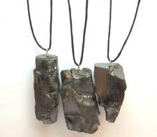 "3 Pendants ""Elite"" of mineral shungite (3-5 gr) Different shapes of pendants"