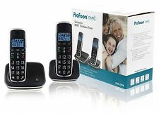 PAIRE TELEPHONE DECT SANS FIL DOMICILE SENIOR CLAVIER GROSSES TOUCHES INTERPHONE