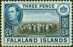 Falkland Islands 1938 3d Black & Dp Blue SG153a V.F MNH