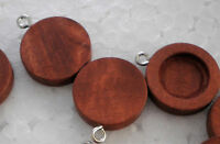 10pcs x 12mm PENDANT Antique Wooden Wood Cameo Base Setting / Tray
