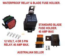 RELAY FUSE WATERPROOF BLADE HOLDER 12 V 40 AMP AUTOMOTIVE MARINE BOAT SWITCH CAR