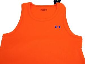 Under Armour Men's HeatGear Flyweight Fitted Crew Neck Tee Rifle Orange Size XL