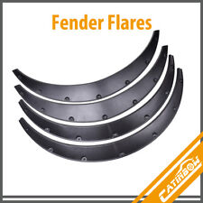 4pc Universal Black Fender Flares Durable Flexible Auto Car Body Kit SUV Offroad