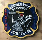 Fire Department Ashburn Sign routed wood patch plaque sign Custom
