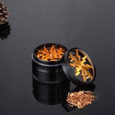 4 Layers Zinc Alloy Gold Grinder Grinder Herbaceous Plant Crusher Herb Grinder