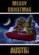 FIVE NIGHTS AT FREDDY'S FNAF Personalised Christmas Card       Freddys Fazbear