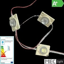 3 X LED HIGHPOWER MODUL KETTE 12V DC - 1,5W - IP67 WASSERDICHT WEISS