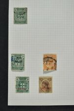 JAMAICA, a collection of stamps on 9 album pages, used condition + MM.