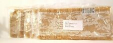 """Burlap Ribbon 4"""" with Lace 5 Packs for Total 10 Yards (360"""") Primitive"""