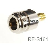 N-Type Female to RP-SMA Reverse Polarity Female RF Adapters, RF-S161