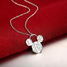 Plateado collar animal Geométrico De Mickey Mouse En Bolsa De Regalo Regalo De Navidad