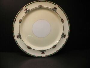 """Rare Burley & Sons - Chicago - Hand Painted 12"""" Round Serving Platter"""