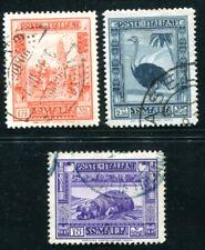 ITALIENISCHE KOLONIEN SOMALIA 1932 182,184,186C gestempelt (K9145