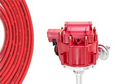 Red HEI Distributor Coil Red 8.5mm Spark Plug Wires 1968-76 Cadillac 472 500 V8