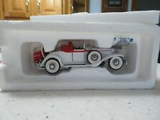 Vintage 1991 Franklin Mint Precision Models-1931 Cord L 29 Cabriolet-White & Red