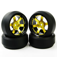 4X 3° Drift Tires Rim For HPI HSP 1:10 RC On-Road Car D6NKG+PP0367 12mm hex
