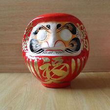 Daruma Doll in red color with a pen / Daruma made at Takasaki : No 2 size