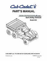 Cub Cadet Big Country 4x2 utility vehicle Operator Manual No 431D