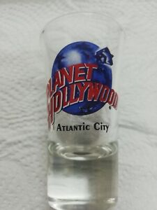 "New Never Used Planet Hollywood Atlantic City Shot Glass 3 1/2"" Tall Souvenir"